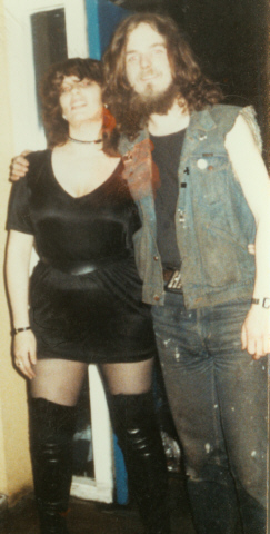 Bill and I as students, at QMC's Rock Soc. An ancient photo!
